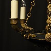 French Gilded Bronze Empire 4 Light Chandelier (3 of 10)