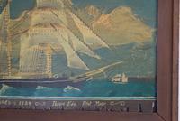 19th Century Maritime Oil on Board Topsail Schooner (5 of 10)