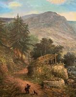 William R Stone Lovely Dolgilly North Wales Landscape Painting (5 of 13)
