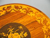 Marquetry Inlaid Walnut Wine Table (9 of 10)