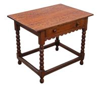Georgian and Later Oak Writing Side Occasional Table with Drawer c.1800 (8 of 9)
