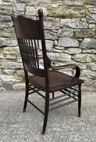 Antique American Armchair with Steamed Bentwood Arms (10 of 14)