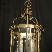French Convex Gilded Twin Light Antique Lantern (5 of 10)