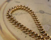 Antique Pocket Watch Chain 1890 Victorian 12ct Rose Rolled Gold Albert & T Bar (5 of 10)