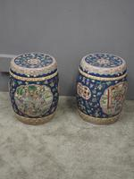 Pair of Chinese Qing Dynasty Painted Barrels / Seats (3 of 17)