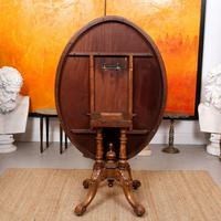 Walnut Marquetry Breakfast Table 19th Century (10 of 10)