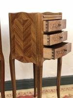 French Marquetry Kingwood Bedside Tables Rustic Distressed (8 of 13)
