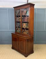 Good Edwardian Inlaid Mahogany Bookcase (16 of 16)