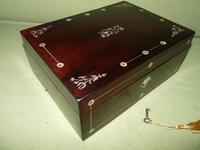 Inlaid Rosewood Jewellery Box + Tray c.1845 (3 of 12)