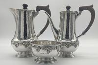 Silver Coffee Set by Arts and Crafts Silversmith A E Jones 1919 (9 of 12)
