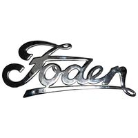 British 20th Century Foden Chrome Commercial Truck Lorry Grill Badge Mascot Plaque