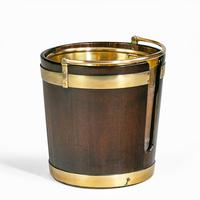 A George III mahogany and brass-bound plate bucket (3 of 6)