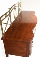 Georgian Style Sideboard Mahogany Server Brass Gallery c.1880 (13 of 15)