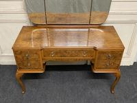 Antique Queen Anne Burr Walnut Dressing Table (6 of 16)