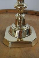 "Rare Set of 4 Large Victorian Brass Candlesticks Through Pushers 12.5"" c.1890 (5 of 7)"