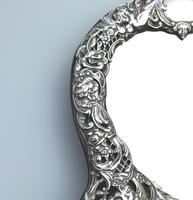 William Comyns : A Fine Large Quality Antique Solid Silver Novelty Mirror C.1905 (4 of 11)