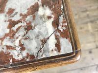 French Walnut & Marble Bedside Cupboard (4 of 15)
