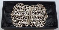 Large Victorian 1897 Hallmarked Solid Silver Nurses Belt Buckle (2 of 7)