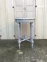 Painted French marble top occasional table (6 of 8)