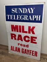 Vintage Advertising Poster Sunday Telegraph Milk Race c.1967 (12 of 23)