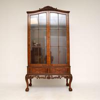 Burr Walnut Display Cabinet c.1930 (2 of 11)