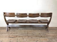 Antique Victorian Elm Four Seater Bench (3 of 12)