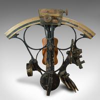 Antique Maritime Sextant, Brass, Admiralty, Naval, Instrument, Victorian c.1900 (5 of 12)