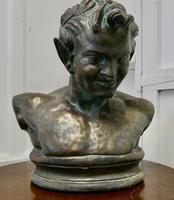 Bust of a Young Satyr in a Bronze Patina (6 of 7)