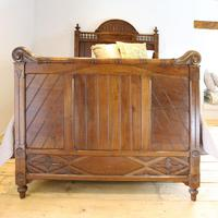 Gothic Style Single Walnut Antique Bed (3 of 8)