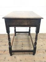 18th Century Oak Side Table with Drawer (8 of 9)