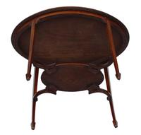 19th Century Decorated Satinwood & Mahogany Table  / Occasional Table (4 of 6)