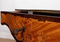 Serpentine Writing Table Louis XVI Style Inlaid Kingwood (9 of 19)
