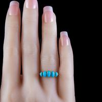 Antique Edwardian Turquoise Ring 18ct Gold Dated 1913 (4 of 7)