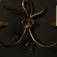 Florentine Pair of Toleware Twin Arm Wall Lights (8 of 10)