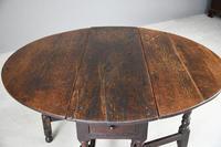 17th Century Oak Drop Leaf Table (9 of 12)