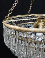 Italian Art Deco Six Tier Crystal Glass Chandelier (5 of 8)