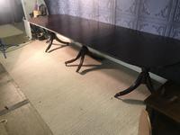 Mahogany Triple Pedestal Dining Table (2 of 10)