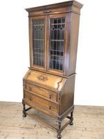 Early 20th Century Antique Oak Bureau Bookcase (15 of 16)