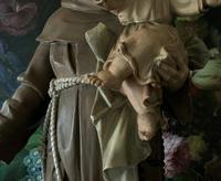 Bohumil Kafka RARE Carved Statue Sculpture St Anthony & Jesus (8 of 32)