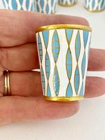 Vintage Russian Silver and Enamel Shots C1950 (2 of 5)