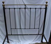 1900's Quality Brass and Iron Black Bed Frame - Check sizes. No Base (2 of 4)