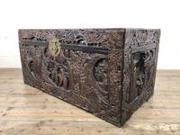 Carved Oriental Camphorwood Chest or Trunk (7 of 13)