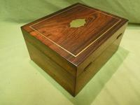 Unisex Rosewood Fitted Jewellery – Dressing Box. c1835 (8 of 12)