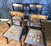 Set of Four Regency Style Dining Chairs by Gill & Reigate (10 of 12)