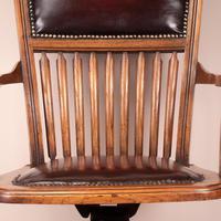 Teak Revolving Office Desk Chair (16 of 17)