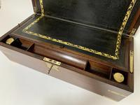 Antique Mahogany Brass Bound Campaign Writing Slope Box (4 of 17)