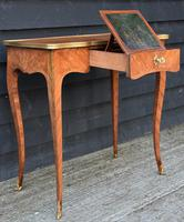 Exceptional Quality 19th Century French Kingwood Writing Table/ Lamp Table/ Centre Table. (9 of 15)