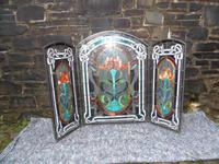 Arts & Crafts Leaded Glass Fire Screen (14 of 14)