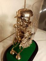 Passing Strike Skeleton Clock. Original Glass Dome (6 of 7)