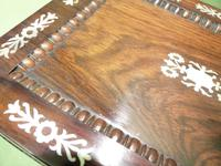 Inlaid Rosewood Table Box / Jewellery Box c.1840 (10 of 12)